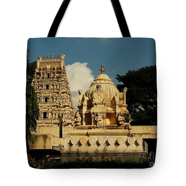 Kote Venkataramana Temple Tote Bag by Mini Arora