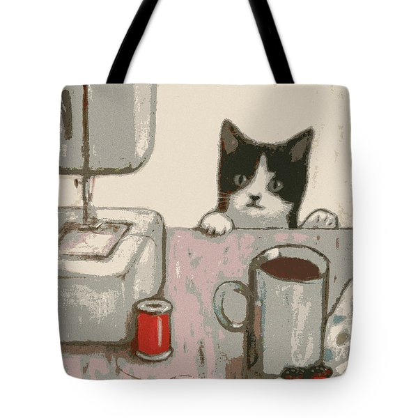 Crafty Cat #2 Tote Bag
