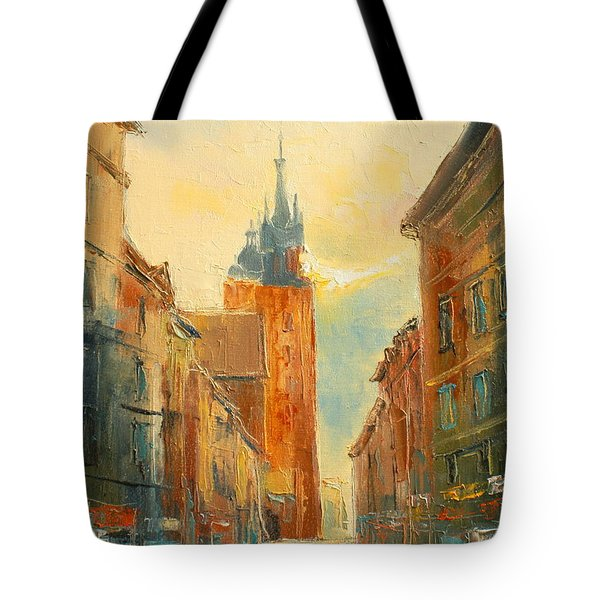 Krakow Florianska Street Tote Bag