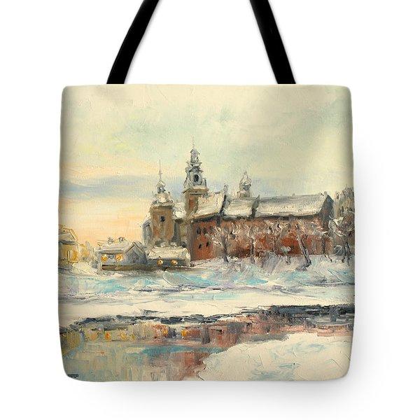 Krakow - Wawel Castle Winter Tote Bag