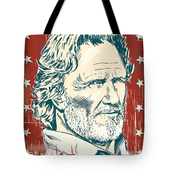 Kris Kristofferson Pop Art Tote Bag