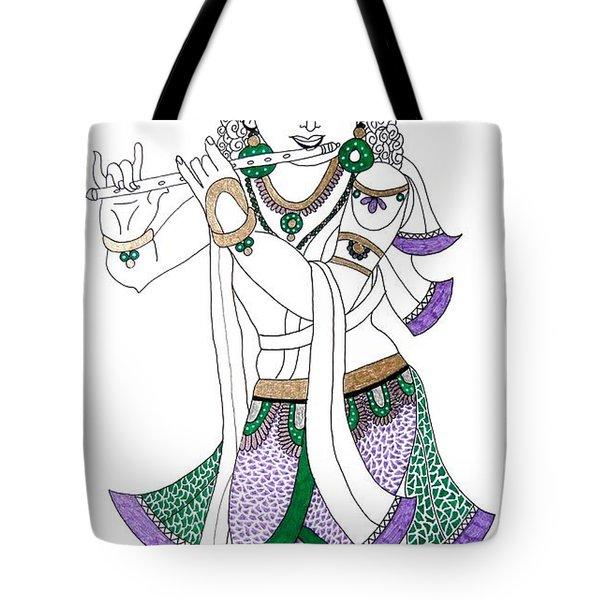 Krishna IIi Tote Bag by Kruti Shah