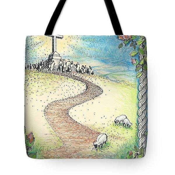 Krizevac - Cross Mountain Tote Bag by Christina Verdgeline