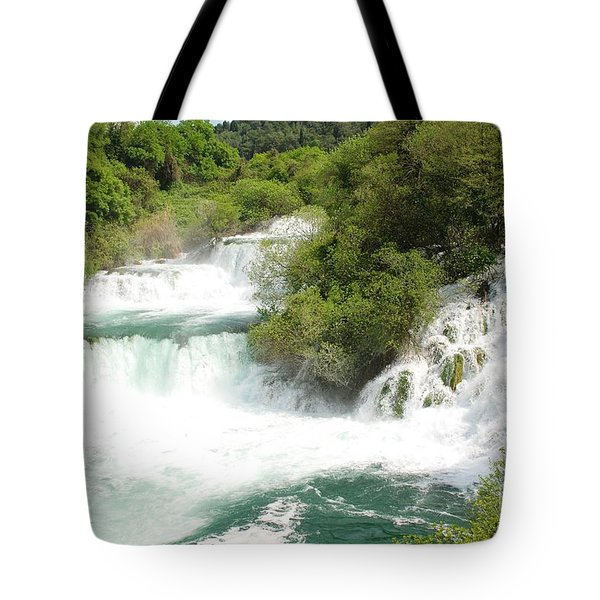 Krka Waterfalls Croatia Tote Bag
