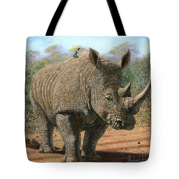 Kruger White Rhino Tote Bag