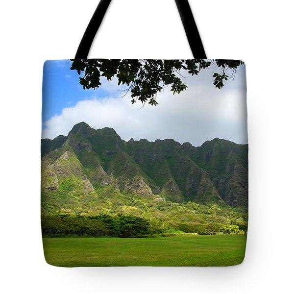 Kualoa Park Hawaii Tote Bag by Kevin Smith