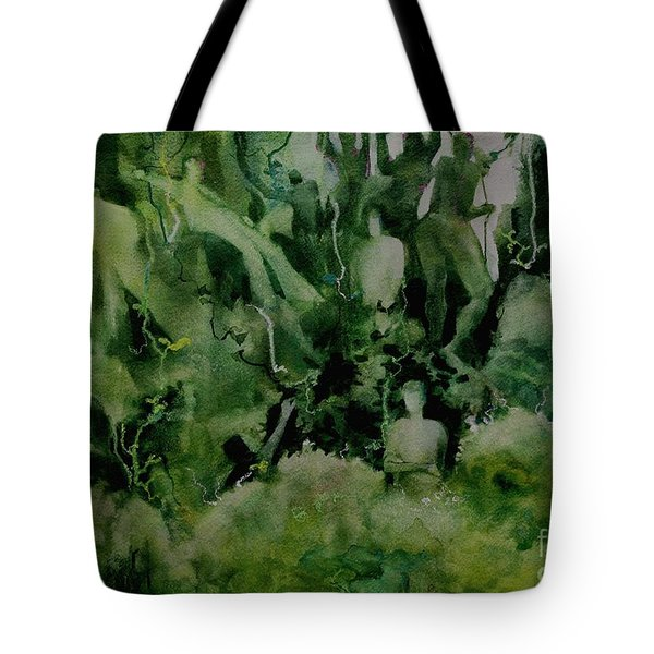 Kudzombies Tote Bag by Elizabeth Carr