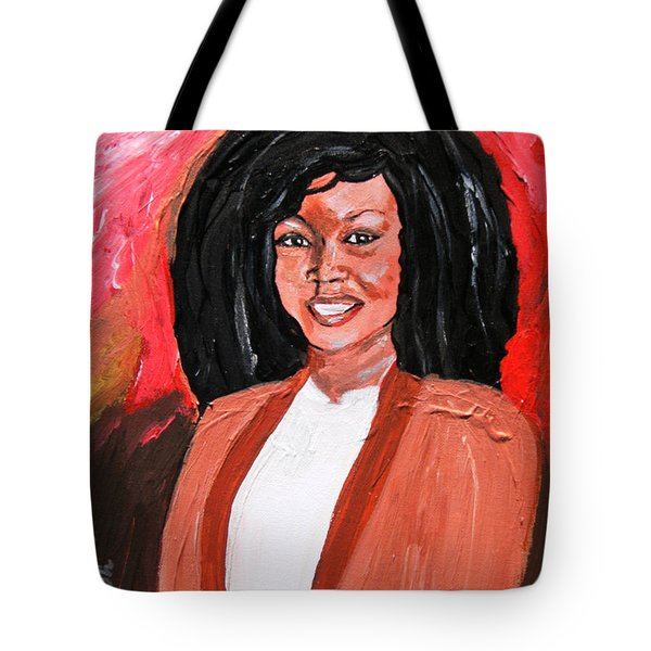 Tote Bag featuring the painting Kula - Sierra Leonecentric - Croydonite by Mudiama Kammoh