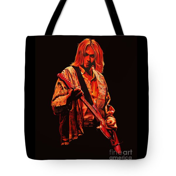 Kurt Cobain Painting Tote Bag by Paul Meijering
