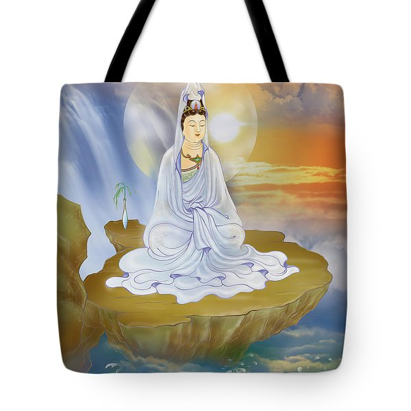 Kwan Yin - Goddess Of Compassion Tote Bag by Lanjee Chee