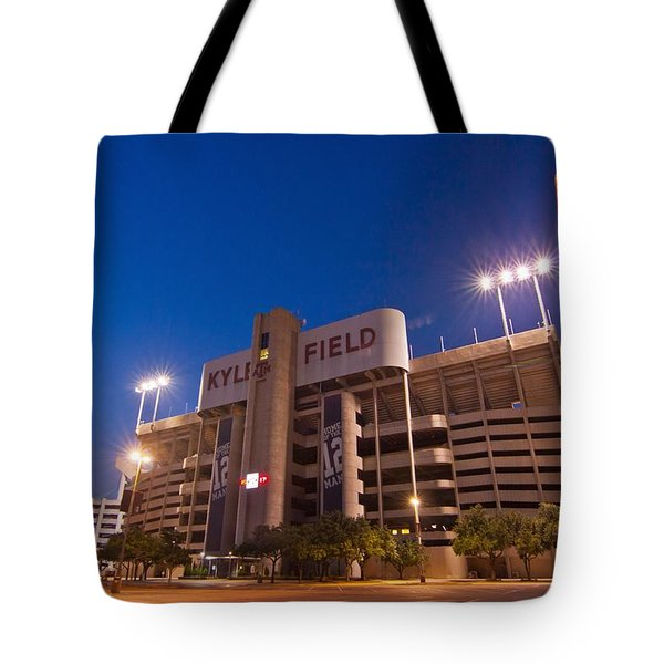 Kyle Field Blue Hour Tote Bag by Linda Unger