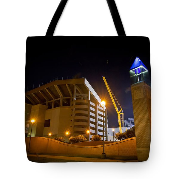 Kyle Field Tote Bag by Linda Unger