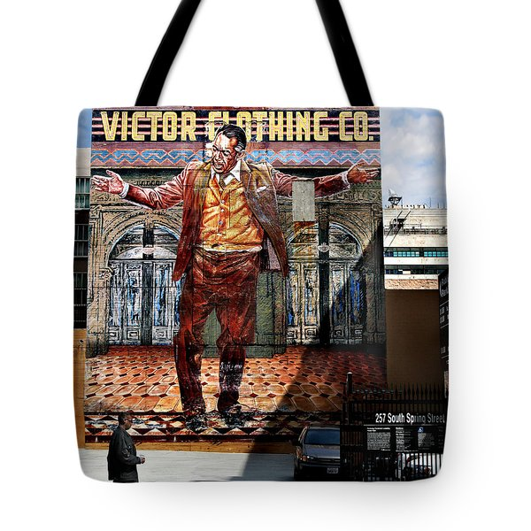 Tote Bag featuring the photograph L A  City Beat by Jennie Breeze