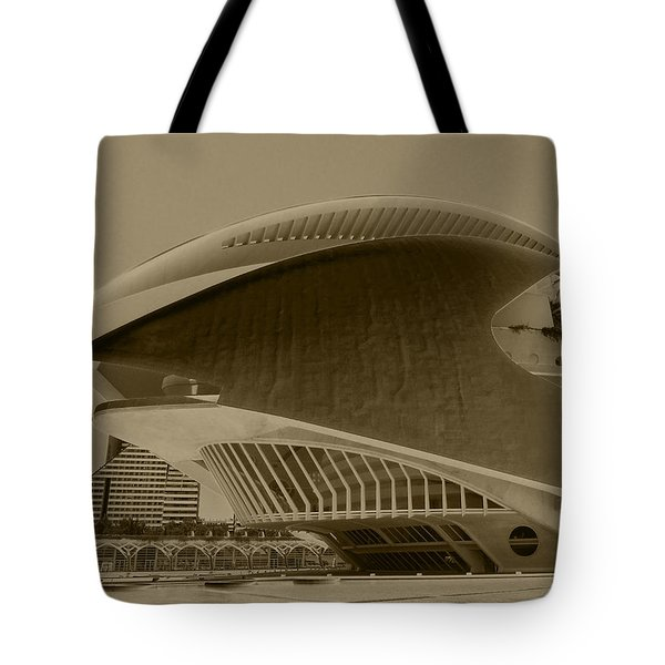 Tote Bag featuring the photograph L' Hemisferic - Valencia by Juergen Weiss