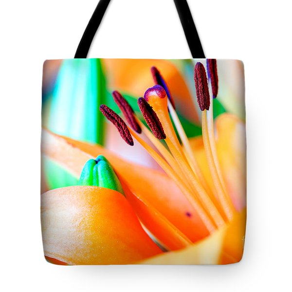 L I L Y Tote Bag by Charles Dobbs