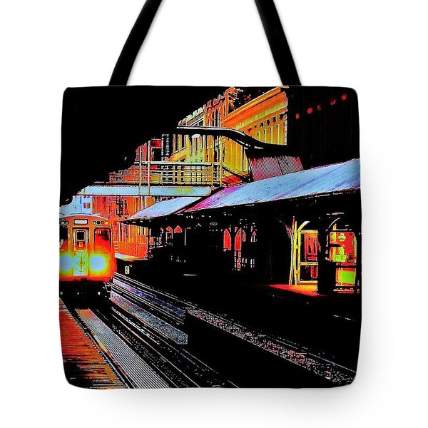 L Train Tote Bag