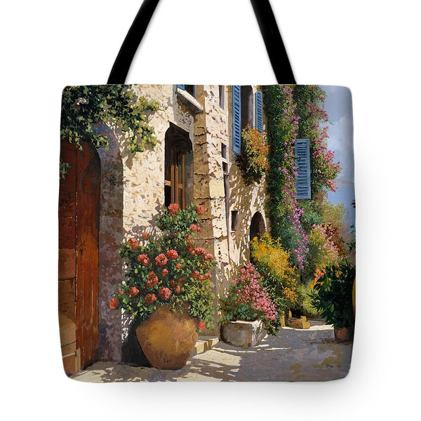 Tote Bag featuring the painting La Bella Strada by Guido Borelli