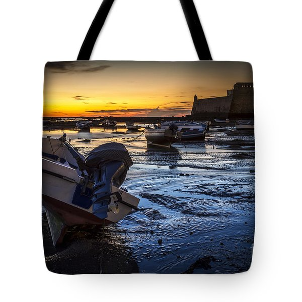 La Caleta Beach Cadiz Spain Tote Bag