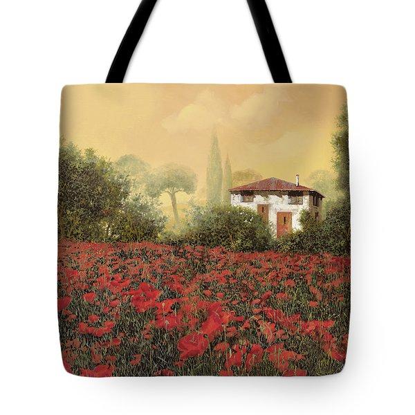 La Casa E I Papaveri Tote Bag