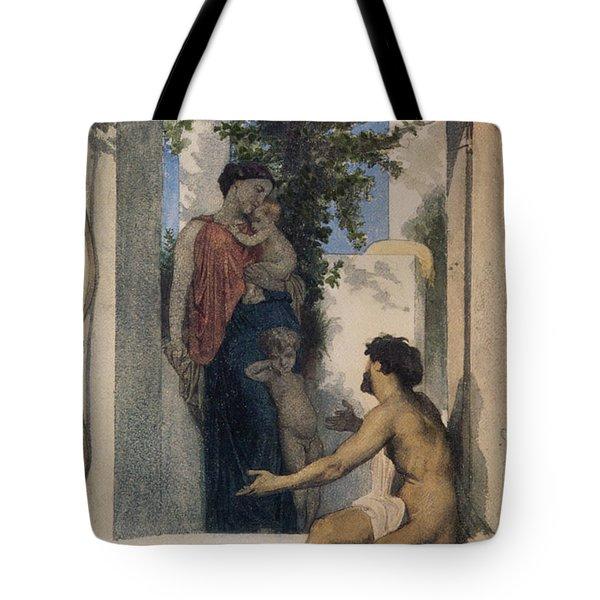 La Charite Romaine Tote Bag by William Bouguereau