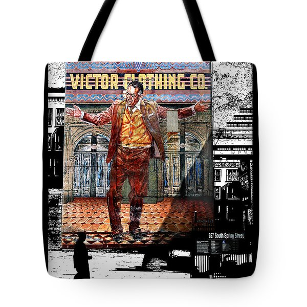 Tote Bag featuring the digital art La City Beat Digitized by Jennie Breeze
