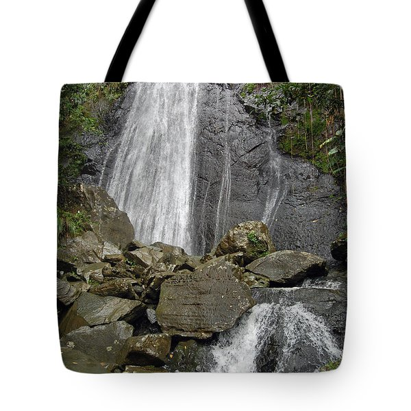 La Coca Falls El Yunque National Rainforest Puerto Rico Prints Tote Bag by Shawn O'Brien