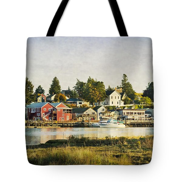 La Conner Waterfront Tote Bag by Maria Janicki