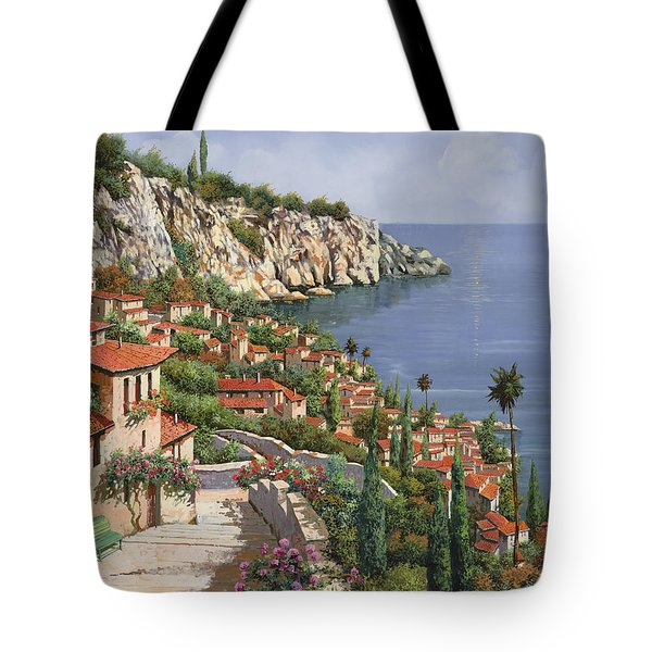 Tote Bag featuring the painting La Costa by Guido Borelli