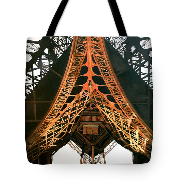 Tote Bag featuring the painting La Dame De Fer by Tom Roderick