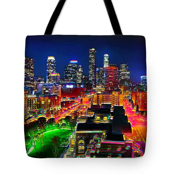 Tote Bag featuring the painting La Experience by Jalai Lama