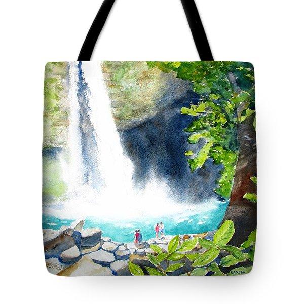 La Fortuna Waterfall Tote Bag by Carlin Blahnik