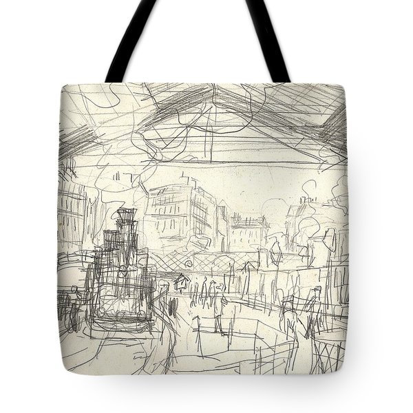 La Gare Saint Lazare Tote Bag