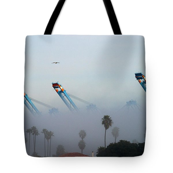 La Harbor Never Sleeps Tote Bag