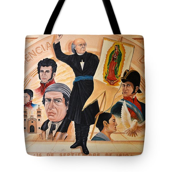 Tote Bag featuring the photograph La Independencia De Mexico by Christine Till