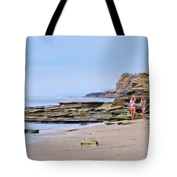 La Jolla Beach Walk Tote Bag