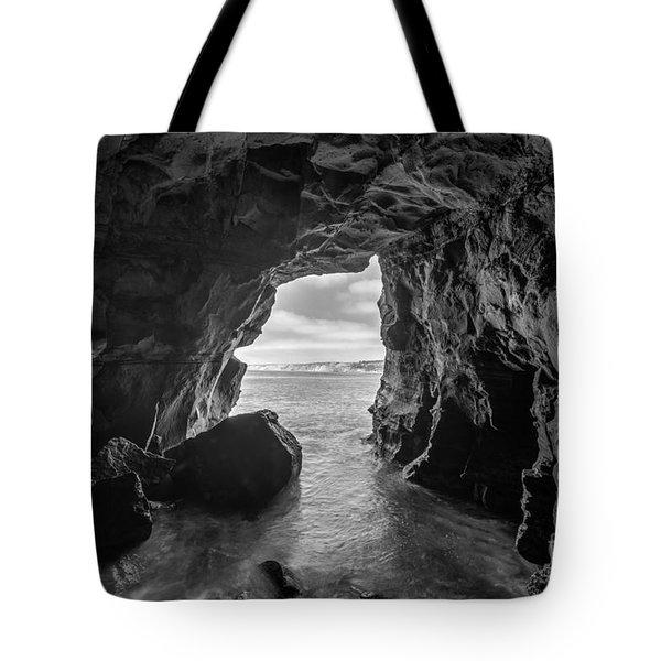 La Jolla Cave Bw Tote Bag