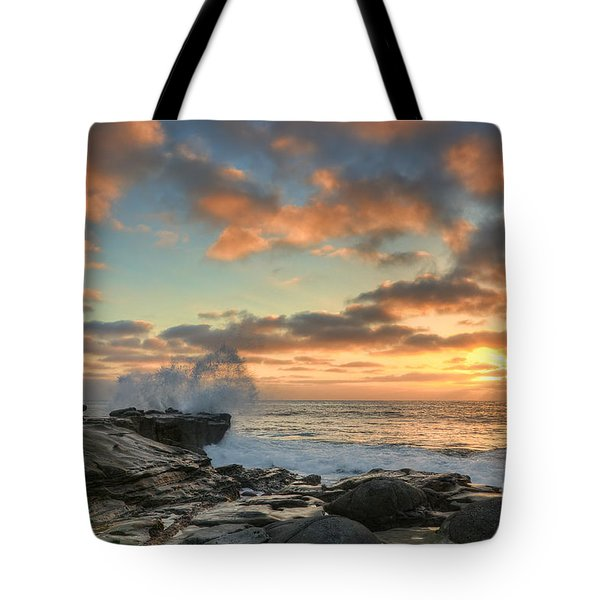 La Jolla Cove At Sunset Tote Bag