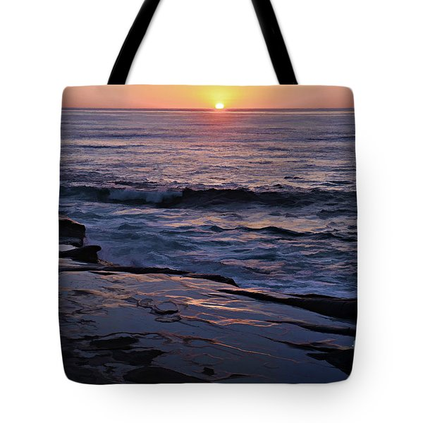 La Jolla Sunset Reflection Tote Bag