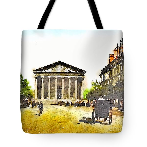 Tote Bag featuring the painting La Madeleine 1890 by Helge