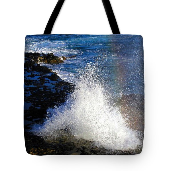 Hawaiian Rainbow Tote Bag