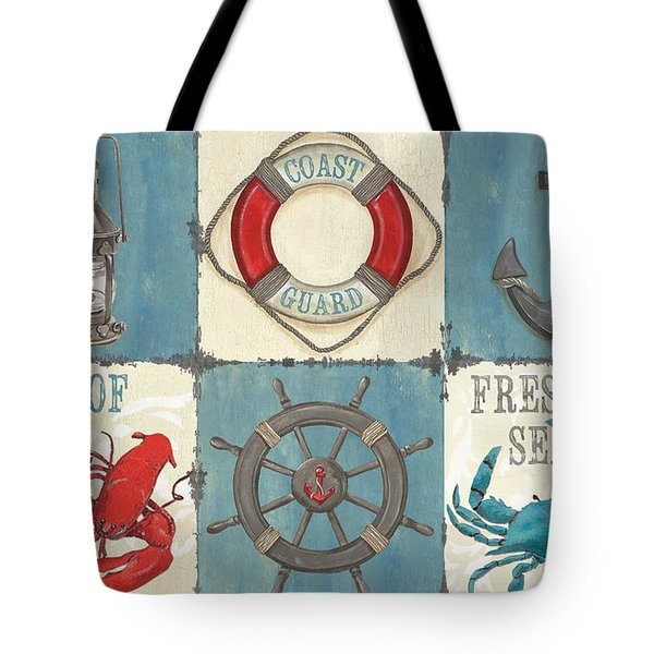 La Mer Collage Tote Bag by Debbie DeWitt