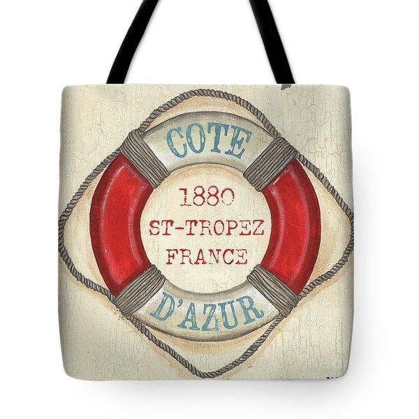 La Mer Cote D'azur Tote Bag by Debbie DeWitt