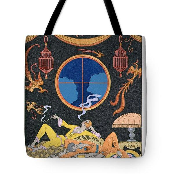 La Paresse Tote Bag by Georges Barbier