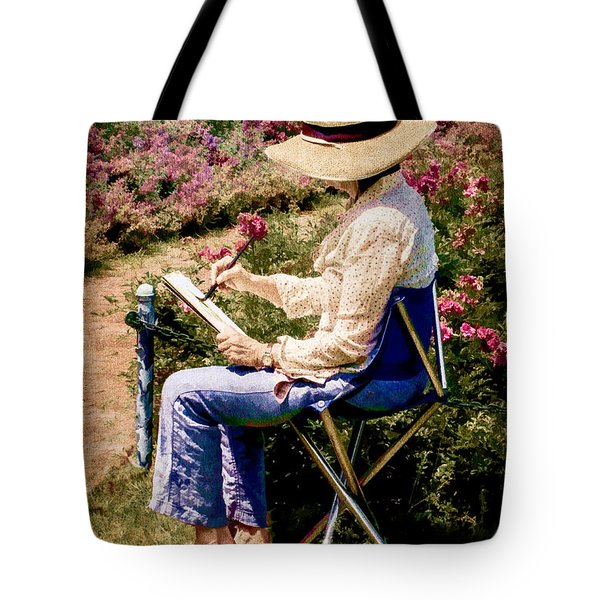 Tote Bag featuring the photograph La Peintre by Chris Lord
