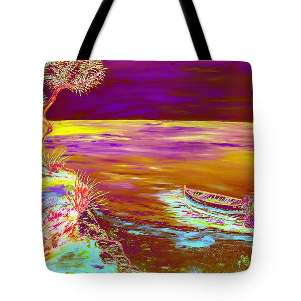 Tote Bag featuring the painting La Pesca by Loredana Messina