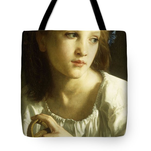 La Petite Ophelie Tote Bag by William Adolphe Bouguereau