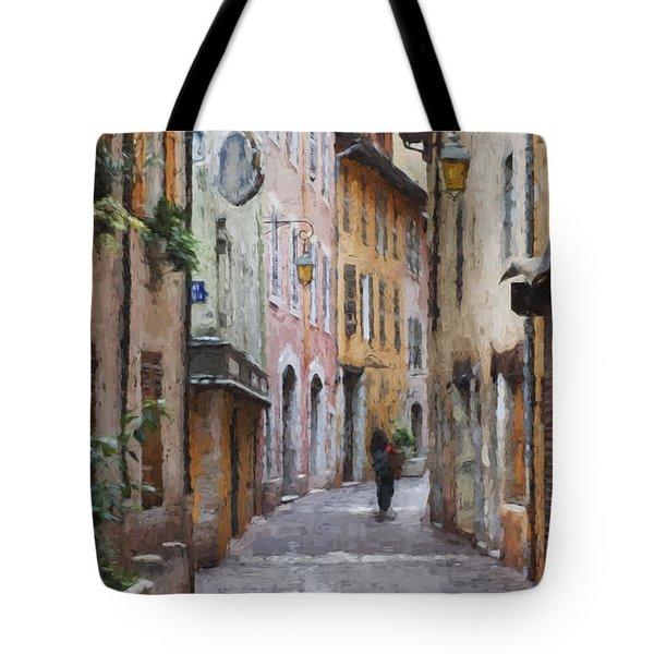 La Pietonne A Annecy - France Tote Bag