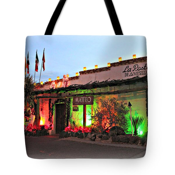 Tote Bag featuring the photograph La Posta De Mesilla New Mexico by Barbara Chichester
