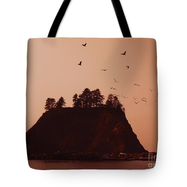 La Push Silhouette With Birds Tote Bag by Kym Backland