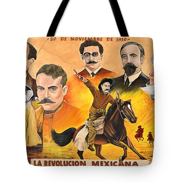 Tote Bag featuring the photograph La Revolution Mexicana by Christine Till